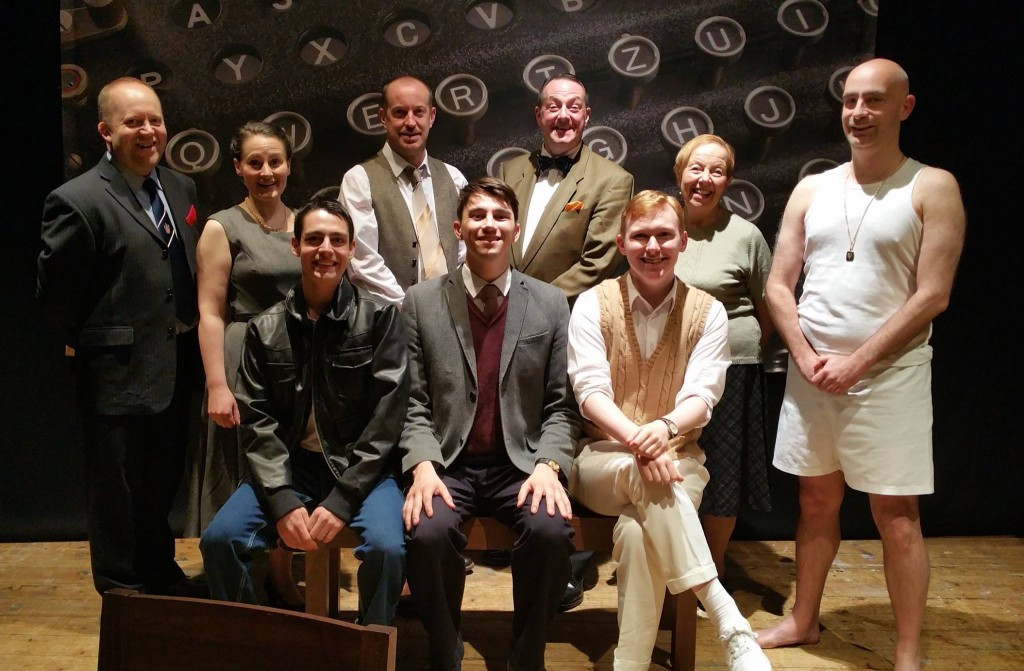 The cast of the 2015 production of Breaking The Code by Hugh Whitemore