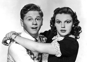 Child starlets Mickey Rooney & Judy Garland