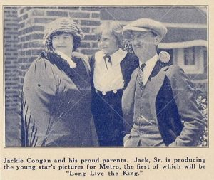 Jackie Coogan with his parents